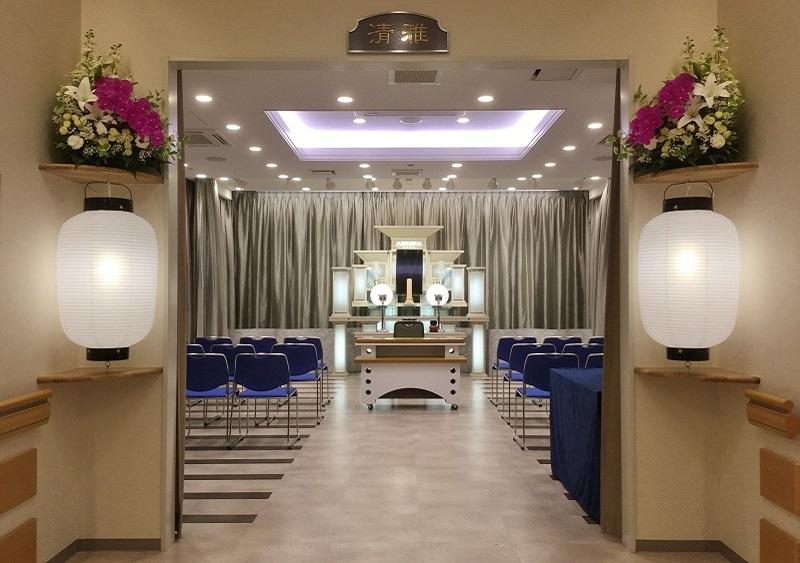 【平安祭典 銀座築地】<br /> 家族葬に最適な広さの貸切セレモニーホール