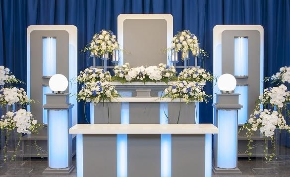 家族葬ホールの新祭壇