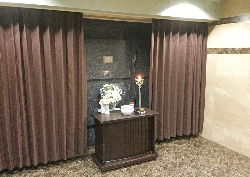 【御安置室】<br /> 安心の保冷設備を完備。故人様を大切にお預かり致します。<br />